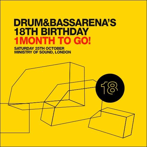 Win tickets to Drum&BassArena 18th Birthday!