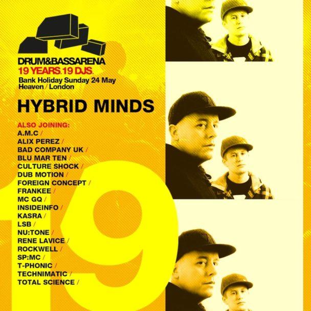 FREE DL: Hybrid Minds – Drum&BassArena 19 Years Exclusive Mix