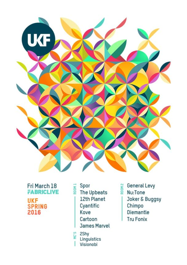 UKF @ fabric w/ Spor, The Upbeats & more / 18 March